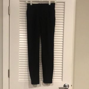 Express skinny stretch mid rise black work pant